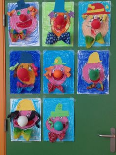 Carnaval by paulette Kids Crafts, Clown Crafts, Circus Crafts, Carnival Crafts, Kids Carnival, School Carnival, Circus Art, Circus Theme, Preschool Crafts