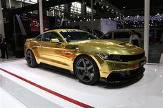 Gold Saleen Mustang