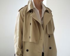 Minimal + Classic: CLASSIC TRENCH + WHITE BLOUSE