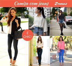 Camisas femininas com jeans