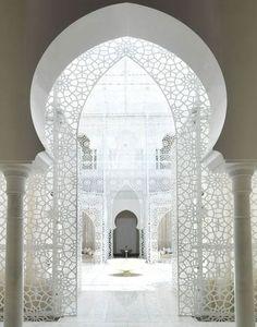 White - Marrakech - Morocco -Architecture