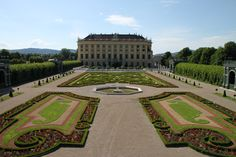 This is Schloss Schönbrunn in Vienna, Austria. It's a massive house sitting within beautiful parkland just outside the main city. The park is free to enter (although there is a charge to tour the house). The gardens are so big, there is a little train you can catch to take you to the main areas. The whole area is stunning and well worth a visit.