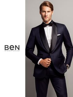 Ben by Jeremy Wallace navy shawl collar tuxedo
