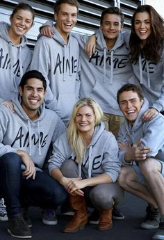 Home and Away cast are supporting National Hoodie Day. Bonnie Sveen, Home And Away Cast, Jessica Grace, 3 Brothers, Leila, Hot Actors, Love Home, Popular Culture, Reality Tv