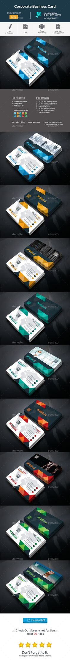 Corporate Business Card - Corporate Business Cards Download here : https://graphicriver.net/item/corporate-business-card/17606313?s_rank=59&ref=Al-fatih