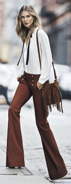 .Fall street fashion / karen cox. 70's influence and flares