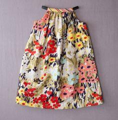 reversible swing dress daisies