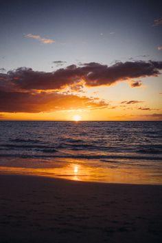 Tropical sunset, Maui, HI