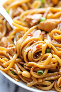 CPK's Kung Pao Spaghetti - A copycat recipe that you can make at home in less than 20 min. And the homemade version tastes 10000x better!  #sicilian-recipes  #sicilia #sicily   #italian-food