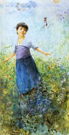 Farfalle Fausto Zonaro (1854 – 1929, Italian)