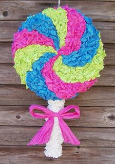 Yummy Swirly Lollipop Pinata - MADE TO ORDER