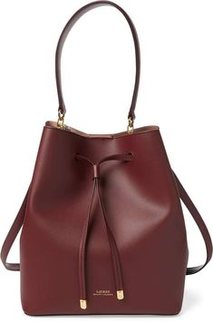 a257b4869ec8 Ralph Lauren Leather Debby Drawstring Bag