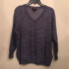 J.Crew summer sweater J.Crew Vneck sweater in marled blue. Summer weight. Size XXS. Like new. J. Crew Sweaters V-Necks