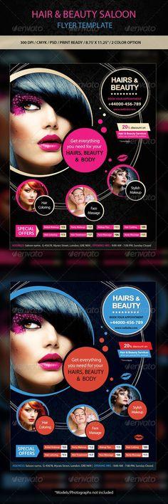 Hair Salon Flyer Templates Hair Stylist Flyers Pinterest