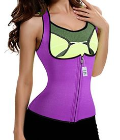 Magic Slimming Sweat Vest Hot Neoprene Shapers Sauna Vest Shirt Weight Loss M Purple * Details can be found by clicking on the image.Note:It is affiliate link to Amazon.