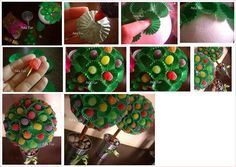 For this project, you will need a medium to large styrofoam ball, a...