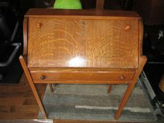Found on EstateSales.NET: Oak Secretary