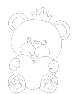 Principe Urso by on DeviantArt Easy Disney Drawings, Art Drawings For Kids, Art Drawings Sketches, Cartoon Drawings, Easy Drawings, Boys 1st Birthday Party Ideas, Bargello Quilts, Felt Crafts Diy, Butterfly Template