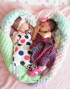 My friend Christine's beautiful twin granddaughters! <3 for sure!