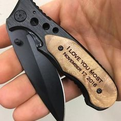 Romantic gifts for him - Engraved Pocket Knife – Romantic gifts for him