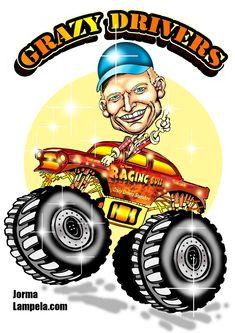 Kuvitukset autoihin prätkiin rekkoihin erikoismaalaukset autojen tarroitus ja teippaus mainoskuvitukset graafinen suunnittelu