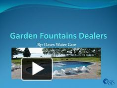 Oases Water Care deals with garden fountains dealers, swimming pool manufacturers, fountain manufacturers, swimming pool construction etc. They use good quality raw materials.