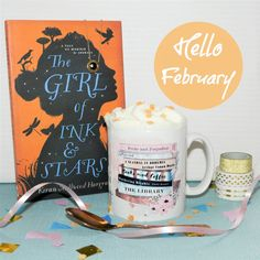 """Goodbye January and Hello February :) My new mug for bookworms will be available by the end of the week (it says books and coffee on the other side but it will also have a books and tea etc option)  ☕️ *I have a shiny new discount code (Etsy and www.missbohemia.com) that lasts until Sunday - for 20% off everything add """"CHOCOLATE"""" at the checkout!"""