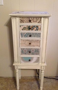 Multi Colored Repurposed Jewelry Armoire by funandfancydesigns DIY