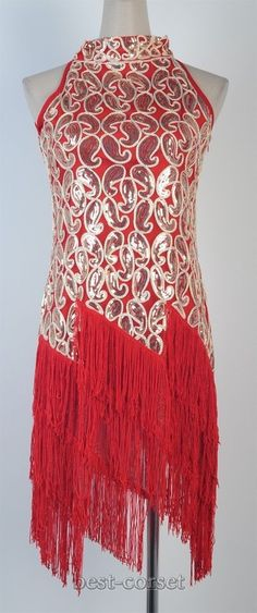 1920's Flapper Dress Clubwear Sexy Great Gatsby Sequin Tassel Red Dress BC 3225 #Other #Clubwear $19.99 +$10.99 (Comes in Royal blue)