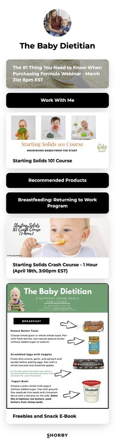 #dietitian #nutrition #parenting #children #pinterestinspired Starting Solids, Return To Work, Dietitian, Need To Know, Breastfeeding, Landing, Restaurants, Parenting, Nutrition