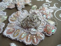 Hand beaded lace Applique | by Magical Mystery Tuca