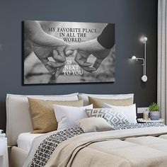 """My Favourite Place"" Premium Leinwand – Deko-Ideen – ""My Favorite Place"" Premium Canvas – Deco Ideas – Easy Home Decor, Home Decor Bedroom, Living Room Decor, Couple Bedroom Decor, Living Room Wall Decor Canvas, Bedroom Ideas Master For Couples, Bedroom Wall Art Above Bed, Romantic Living Room, Bedroom Canvas"