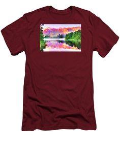 Men's T-Shirt (Slim Fit) - Abstract Landscape 0743