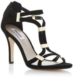 Dune Ladies Harleigh Womens Black Suede Strappy Heeled Sandals Shoes Size 3-8 on shopstyle.com