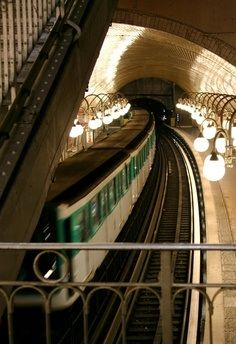 Paris métro - one of the most easily navigable subways in the world. Each stop is an experience of its own, and that's just below ground.