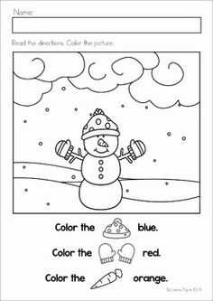 Following Directions Coloring Math Pinterest