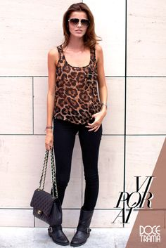 blogger | inspiration | chiara | the blond salad | leopard print | leopard skirt | look | moda | fashion | tip | how to wear | doce trama | www.docetrama.com.br/blog
