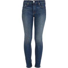 Rag And Bone 'Preston' skinny jean Xmas 2013 found on Polyvore featuring women's fashion, jeans, pants, skinny jeans, skinny leg jeans, cut skinny jeans, denim skinny jeans and blue skinny jeans