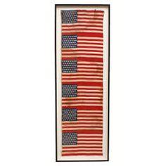 c. 1896 45 Star Uncut American Flags
