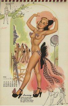 Bill Randall 1952 Calendar May