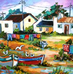 Marlise le Roux ~ Alice Art Gallery, South Africa Illustrations, Illustration Art, Landscape Art, Landscape Paintings, African Paintings, Zombie Art, South African Artists, Cool Artwork, Amazing Artwork