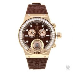 Global Wealth Trade Corporation - FERI Designer Lines Stainless Steel Case, Luxury Watches, Gold Watch, Deep Brown, 3 Piece, Rose Gold, Confidence, Design, Polyvore