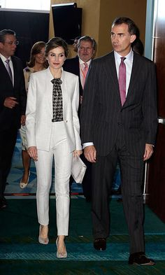 Queen Letizia of Spain takes her sophisticated style to Puerto Rico