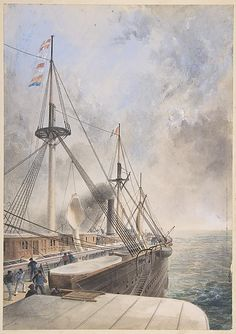 Deck of Great Eastern, Robert Charles Dudley, 1865. Great Eastern is a sad story about a man with a lofty dream.