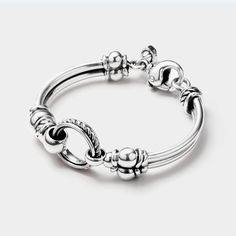David Wysor Circle Bracelet Sterling Size Medium From the Classic Collection