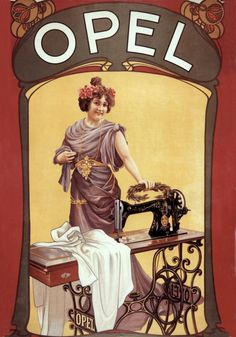 Poster Retro, Nostalgic Art, Vintage Sewing Machines, Sewing Studio, Sewing Crafts, Sewing Tools, Illustrations, Vintage Advertisements, Advertising
