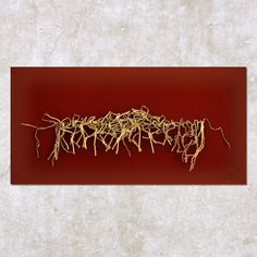 """ Saxifrages "" - 70x100 cm, 2007 | Récupération, art contemporain | © monique pache abrezol - all rights reserved. no reproduction allowed."