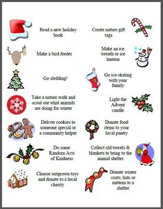 Free Printables for Your Advent Calendar -- HUGE list of ideas & activities! Includes family fun, volunteer ideas, holiday movies and seasonal activities!