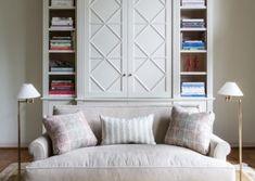 Sutton Place- custom bar/ library cabinet designed by Michael Hampton