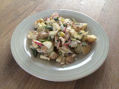 Aardappelsalade met forel